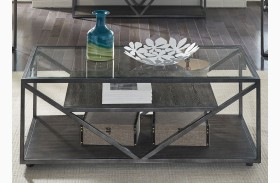 Arista Cobblestone Brown Rectangular Cocktail Table