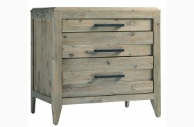 Harbourside Weathered Wire Brushed 3 Drawer Nightstand