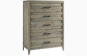 Harbourside Weathered Wire Brushed 6 Drawer Chest