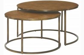 Soho Khaki Travertine Round Cocktail Table