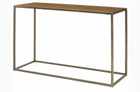 Soho Khaki Travertine Sofa Table