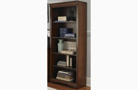 Harbor Ridge Rustic Cherry Open Bookcase
