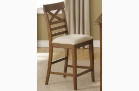 Hearthstone Rustic Oak X Back Counter Chair