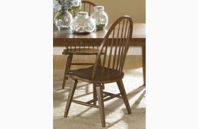 Hearthstone Rustic Oak Windsor Back Side Chair