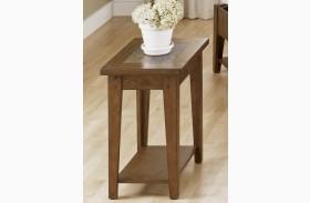 Hearthstone Rustic Oak Chair Side Table