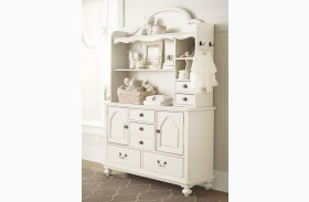 Inspirations Seashell White 2 Door Dresser with Hutch