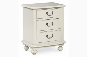 Inspirations Seashell White 2 Drawer Nightstand