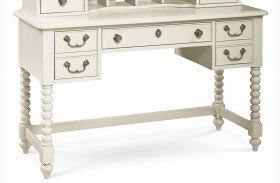 Inspirations Seashell White 3 Drawer Boutique Desk