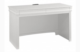 French Market Soft White 2 Drawer Laptop/Tablet Desk
