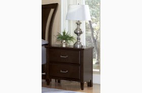 Commentary Merlot Stack Display Nightstand
