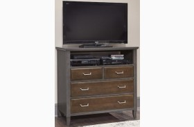 Commentary Steel And Oak 4 Drawer Media Chest