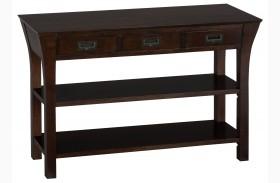 Artisan Dark Brown Sofa/Media Table