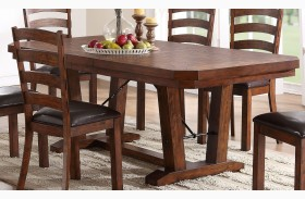 Lanesboro Distressed Walnut Dining Table