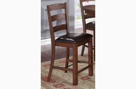 Lanesboro Distressed Walnut Counter Chair