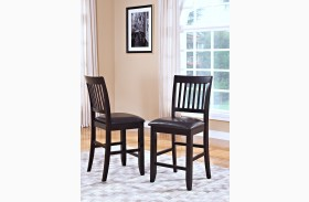 Kaylee Espresso Counter Chair Set of 2