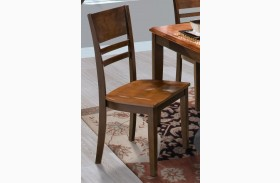 Latitudes Ginger/African Chestnut Horizontal Slat Chair