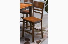 Latitudes Ginger/African Chestnut Horizontal Slat Counter Chair