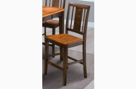 Latitudes Ginger/African Chestnut Vertical Back Counter Chair