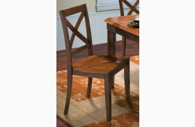 Latitudes Ginger/African Chestnut X Back Chair