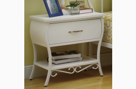 Bella Youth White Nightstand