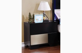 Havering Black and Sterling Youth Nightstand
