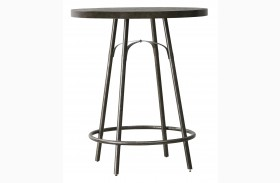 Vintage Tempo Unique Charcoal Round Metal Pub Table