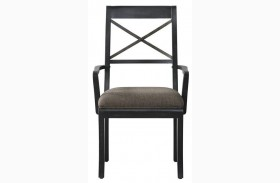 Vintage Tempo Unique Charcoal Arm Chair Set of 2