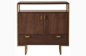 Modern Harmony Burnished Walnut Media Chest