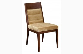 Modern Harmony Burnished Walnut Large Side Chair Set of 2