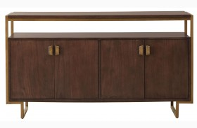 Modern Harmony Burnished Walnut Buffet