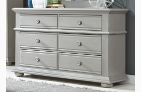Summer House Dove Gray 6 Drawer Dresser