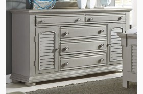 Summer House II Gray 5 Drawer Dresser