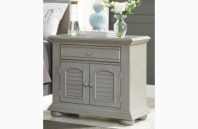 Summer House II Gray 1 Drawer Nightstand