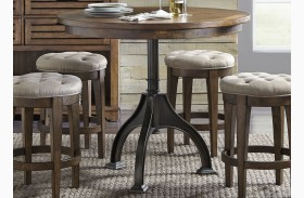 Arlington House Cobblestone Brown Round Counter Height Gathering Dining Table