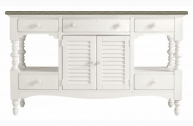Coastal Living Saltbox White Buffet