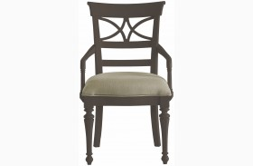 Coastal Living Gloucester Grey Sea Watch Arm Chair
