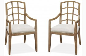 Moderne Muse Bisque Arm Chair Set of 2