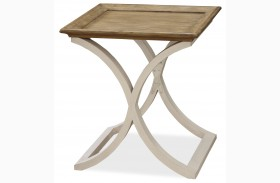 Moderne Muse Bisque End Table