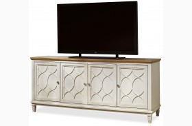 Moderne Muse Canvas And Bisque Entertainment Console