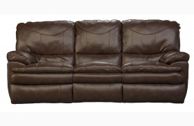 Perez Chestnut Power Reclining Sofa