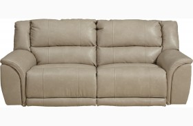 Carmine Pebble Power Reclining Sofa