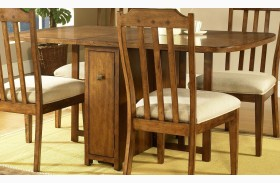 Craftsman Warm Deep Brown Drop Leaf Gate Leg Table