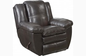 Aria Chocolate Glider Recliner