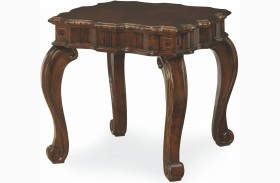 La Bella Vita Rectangular End Table