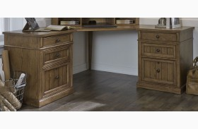 Cumberland Creek Rustic Oak Corner Desk