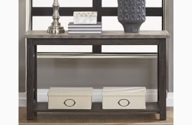 Heatherbrook Charcoal Sofa Table