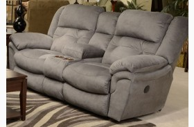 Joyner Slate Power Reclining Loveseat with Console