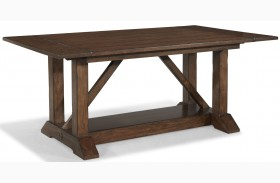 Blue Ridge Trestle Storage Dining Table