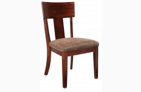 Studio Brown Mahogany Side Chair Set of 2