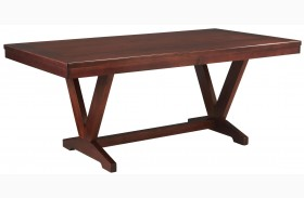 Studio Brown Mahogany Trestle Table